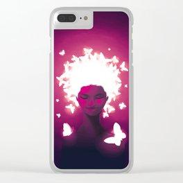 Luminescent Fuchsia Clear iPhone Case