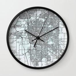 Lincoln, NE, USA, White, City, Map Wall Clock