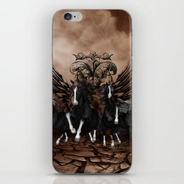 Awesome wild horses iPhone Skin