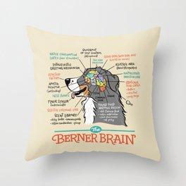 The Berner Brain - Bone Throw Pillow