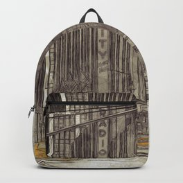 NYC Yellow Cabs Radio City Hall - SKETCH Backpack