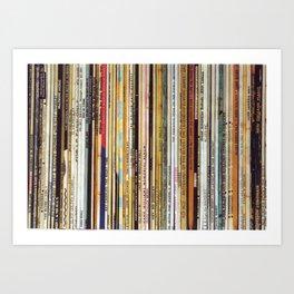 vinyl records Art Print