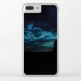 Tumultuous sky Clear iPhone Case