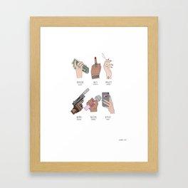 NAILED IT. (celebrity hand portraits) Framed Art Print