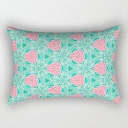 Millennial Pink Chenille and Mint Anchor  Pattern Rectangular Pillow