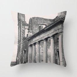 Mansion Walls & Roman Coloumns Throw Pillow