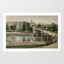 York general view and castle 1900 Art Print