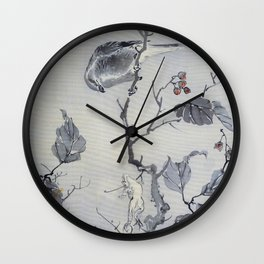 Bird And Frog - Digital Remastered Edition Wall Clock