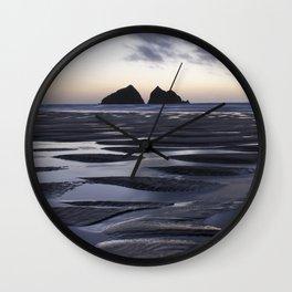 Gull Rock, Holywell Bay, Cornwall, England, United Kingdom Wall Clock