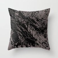 gravity Throw Pillows featuring Gravity by nicebleed