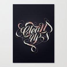 Clean up Canvas Print