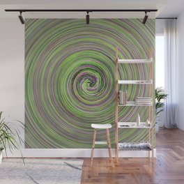 Green and Purple waves Wall Mural