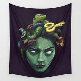 Dark Medusa Wall Tapestry