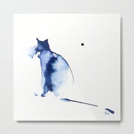 Dinamic Cat Metal Print