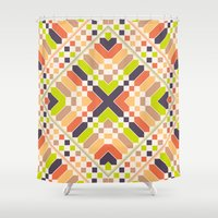 avocado Shower Curtains featuring Retro avocado by Picomodi
