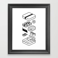 Bento Box Framed Art Print