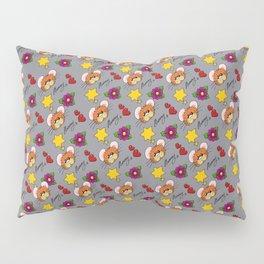 Hammy Pattern in Light Grey Pillow Sham
