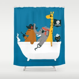 Everybody wants to be the pirate Shower Curtain
