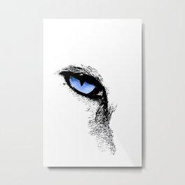 CAT BLUE EYE Metal Print