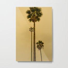 Palm trees of Los Angeles, California minimalist photography Metal Print