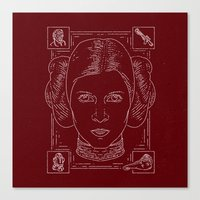 princess leia Canvas Prints featuring Leia by Jon Deviny