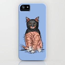Periwinkle Pink Bat Cat iPhone Case
