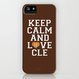 LOVE CLE BROWNS iPhone Case