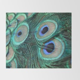 Tail of the Peacock Throw Blanket