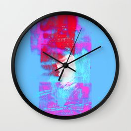 abstract blue pink Wall Clock