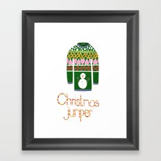christmas jumper Framed Art Print