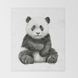 Panda Baby Watercolor Throw Blanket