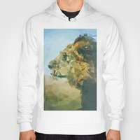 lion Hoodies featuring Lion by Esco