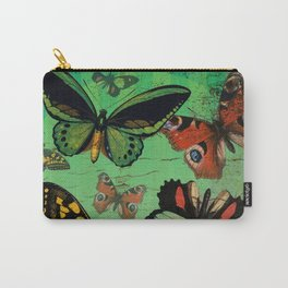 Distressed Butterflies Carry-All Pouch