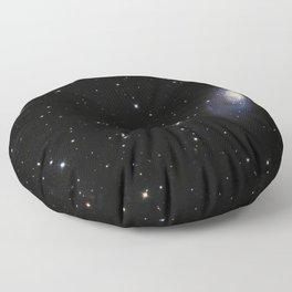 Spiral Galaxy M106 Floor Pillow