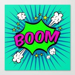 Boom Blue Boom Canvas Print