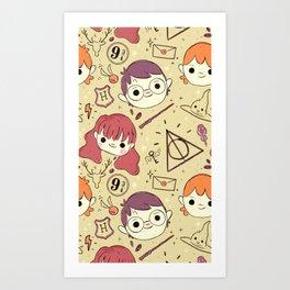 Harry Pattern Art Print