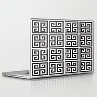 greek Laptop & iPad Skins featuring Greek Print by I Love Decor