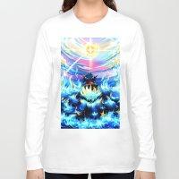 gurren lagann Long Sleeve T-shirts featuring Gurren Lagann - Burning Soul by Cielo+