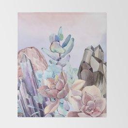 Gemstone Flower Throw Blanket
