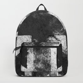 Black and white England Grunge flag Backpack