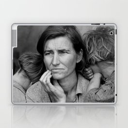 Migrant Mother by Dorothea Lange - The Great Depression Photo Laptop & iPad Skin