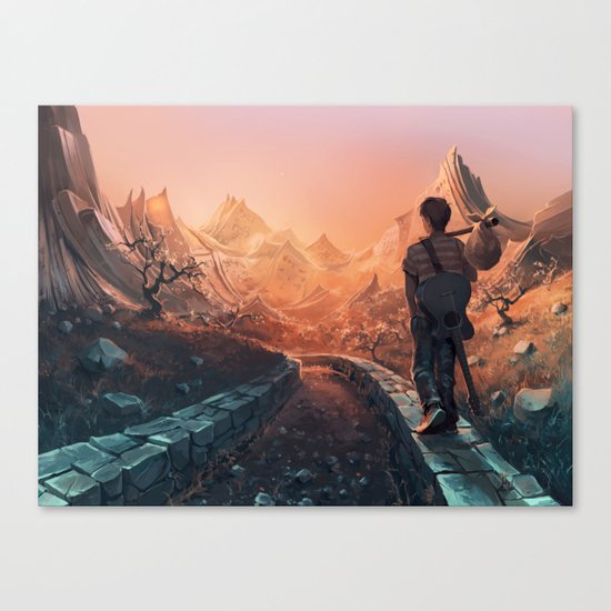 A world of poetry Canvas Print