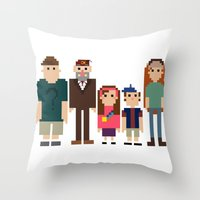 gravity falls Throw Pillows featuring Gravity Falls 8-bit by Evelyn Gonzalez