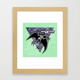 Pterodactyl Fossil Framed Art Print