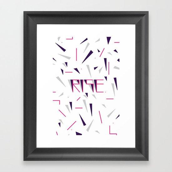 Rise No.2 - White Framed Art Print