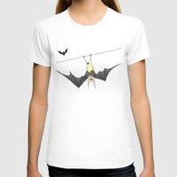 bat T-shirts featuring bat by Alp Adal