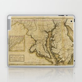 Map of the State of Maryland (1795) Laptop & iPad Skin