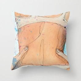 A Splash of Color Throw Pillow