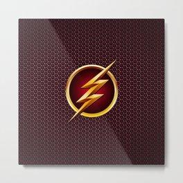 Flash - Superhero Metal Print