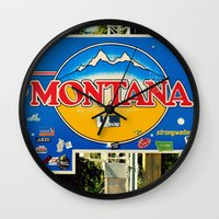 montana Wall Clocks featuring Montana by americansummers